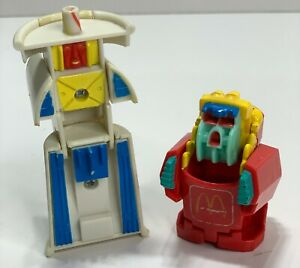 1990 McDonalds Happy Meal Toys Changeables 'Transformers' Fries & Coke Drink Cup