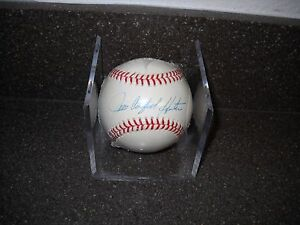 "HOF JIM ""CATFISH"" HUNTER SIGNED AUTOGRAPHED OFFICIAL MLB BASEBALL A'S"