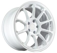 17X9 AodHan AH06 5X114.3 Rims +35 White Wheels Fits Rsx Lanser TL S2000 Is300
