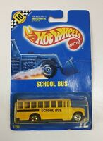 Hot Wheels 1795 School Bus Vintage 1990 Model In packaging
