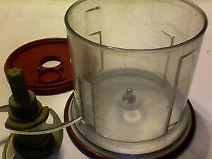 Ninja Food Chopper 16 oz Replacement Bowl Lid Chopper Blade 200 watt red