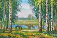 ORIGINAL OIL PAINTING Landscape   ART BY UKRAINE ARTIST