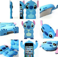 Cute 3D Soft Silicone Rubber Lilo & Stitch iPhone/iPod Touch/Samsung Case Cover