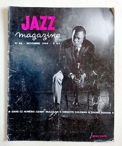 JAZZ  MAGAZINE 64 nov 1960 Miles Davis Gerry Mulligan Ornette Coleman A. Hodeir