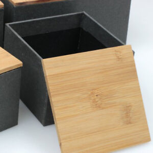 Kitchen Metal/Kraft Paper Tea Storage Box With Bamboo Lid Bins Candy Boxes