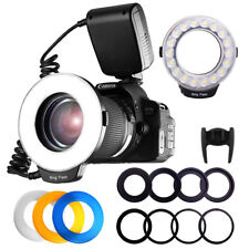 Canon Nikon Pentax Olympus Fuji Sony Macro 48pcs LED Ring Flash Light