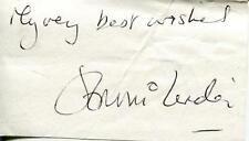 Jennie Linden Autograph Actress In Old Dracula Dr Who & The Daleks Signed Page