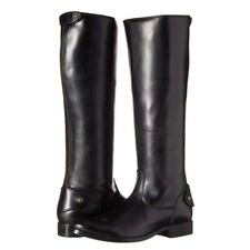 NEW FRYE Melissa Button Back Zip Women's Black Leather Tall Riding Boots SIZE 9