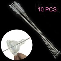 10PCs Nylon Straw Cleaner Cleaning Brush Drinking Pipe Cleaners Stainless Steel