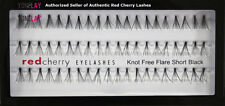Your choice of 3 Pairs AUTHENTIC RED CHERRY Black Human Hair False Eyelashes