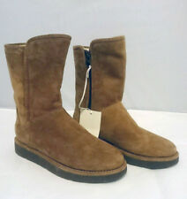 $250 NEW 5 UGG Australia Women's Abree Boots Leather Shearling 1009250 NWT Brown