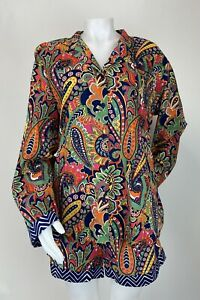 Vera Bradley XLarge 2 Pc Pajama Set sleep Lounge Top & Shorts Venetian Paisley