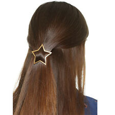 1 Pair Ladies Star Hollow Out Snap Barrette Geometry Triangle Hair Clip Hairpin