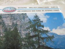 Alpenbahnen Westalpen K 44 Brig Visp Zermatt Bahn Herbriggen Randa Zermatt
