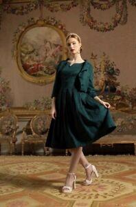 NWT LINDY BOP MARIANNE EMERALD GREEN DRESS & JACKET SUIT SIZE 14 18 WEDDING WORK
