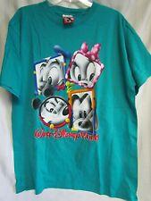 Vintage Walt Disney World Theme Park Large T-shirt New Mickey Donald Daisy Goofy