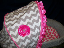 Custom Chevron and Minky Bassinet Covers
