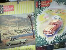 2 REVUES ACTION AUTO 1952/54 AVEC COUVERTURES FORD VEDETTE