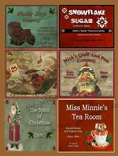 Prim Christmas Labels Collection          FH72