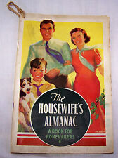 1938 KELLOGG'S ALMANAC-CEREAL-BATTLE CREEK MICH-WEATHER-RECIPES-DREAM MEANING+++