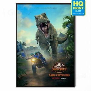 Jurassic World Camp Cretaceous 2020 TV Series Poster Print   A5 A4 A3 A2 A1  