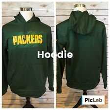 Nike NFL Green Bay Packers Pullover Hoodie Mens M Therma Fit Kangaroo Pkt NEW