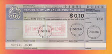 "Amtliche Postal Order ""Republic of Zimbabwe"" ATM Ersttag Harare! Selten! numm.!"