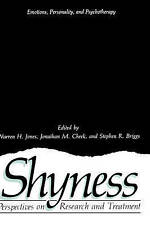 Shyness: Perspectives on Research and Treatment (Emotions, Personality, and Psyc