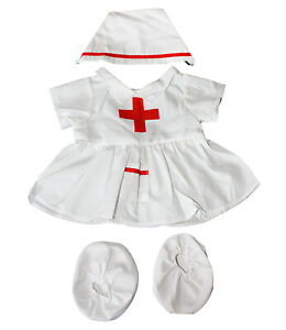 """Nurse outfit Teddy Bear Clothes Fits Most 14"""" - 18"""" Build-A-Bear and Make Your O"""