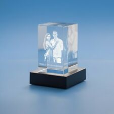 3D Tower (Portrait) Crystal, Laser Engraved with Your Custom Photo