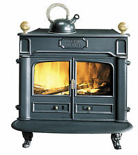 NEW French 9.5kw Godin Colonial Franklin Cast Iron Wood Burner Stove Black