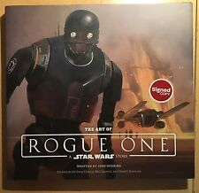 The Art Of Rogue One A Star Wars Story  Josh Kushins DOODLED & SIGNED NEW