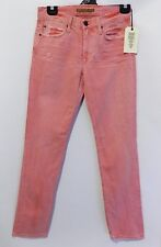 JOE'S VINTAGE USA MADE WASHED OUT RED DENIM JEANS SIZE 29 NWT PINK