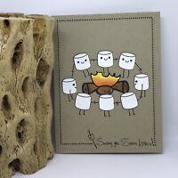 handmade Card Kit Stampin' Up! Smores Campfire Marshmallow Spring Summer Copics