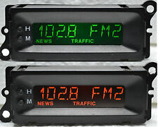 Reformado Freelander Rover MG 8 Pin Radio Reloj Pantalla Verde Naranja Rojo Azul