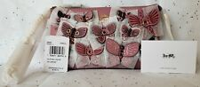 Coach Large Wristlet With Butterfly Applique Im/rose Multi 2955