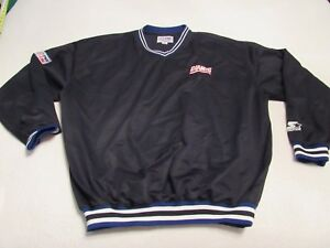 VINTAGE STARTER PRO LINE NEW YORK FOOTBALL GIANTS PULLOVER JACKET LARGE
