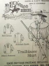 Buckaroo Bobbins Trailblazer Western Shirt Men's Clothing Reenactment Pattern