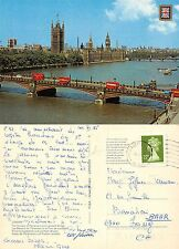 England - London - The Houses of Parliament and Lambeth Bridge BUSES (A-L 365)