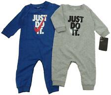 Nike Bebé Niño Babygrow 6M 9M Mono (68 74cm) 'Sólo Hazlo' Gris O Azul BNWT