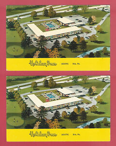 HOLIDAY INN SOUTH ERIE PA I-90 & STATE ROUTE 97 ORIGINAL VTG LOT OF 2 POSTCARD