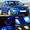 8 Pieces Blue Premium LED Lights Interior Package Kit for Mazda 3 2004 -2009