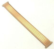 17mm - 22mm ROSE GOLD COLOUR EXPANDING WATCH STRAP FLEXI SOFT STRETCHY BAND