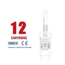 10 pcs of 12 Needles Cartridge /tip for Auto Micro Needle Stamp Pen Usa Seller