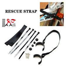 Adjustable Motorcycle Rescue Sling Pull Belt Fork Strap String Red/Black Nylon
