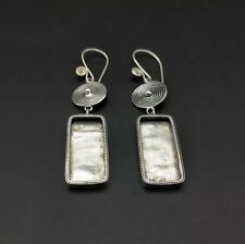 silver Diy embed earring 1pair Chinese exotic tribal retro handmade miao