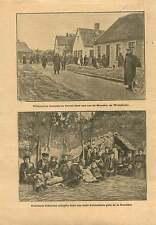 WWI Poilus Münster Westphalia Germany/Anvers Antwerpen Belgium 1914 ILLUSTRATION