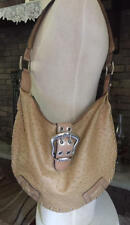 Large round GUESS ostrich embossed bag purse handbag