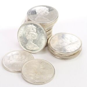 Roll of $20 Face Value Canada Silver Dollars 80% Silver 20 pc BU 0.6 ASW each