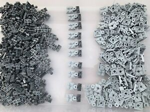 LEGO 14417 63082 - Grey 1x2 & 2x2 Plate / Middle Ball Joint & Socket - 5 Pairs